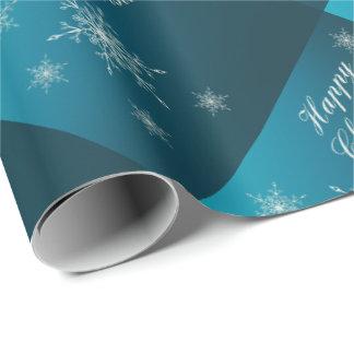 gelukkige Kerstmis, uniek, glanzend Verpakkend Cadeaupapier