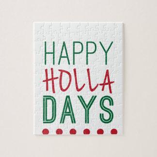 Gelukkige Kerstmis van Kerstmis van het Vakantie Foto Puzzels