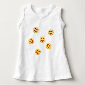 gelukkige koekjesgezichten baby jurk