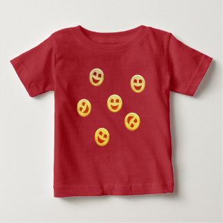 gelukkige koekjesgezichten baby t shirts