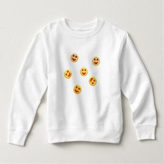 gelukkige koekjesgezichten kinder fleece