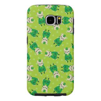 Gelukkige Leuke Frenchie op St. Patrick Dag Samsung Galaxy S6 Hoesje