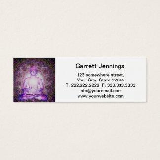 Gelukkige Mediterende Boedha Mini Visitekaartjes