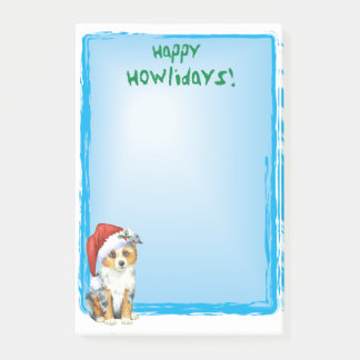 Gelukkige Mini Amerikaanse Herder Howlidays Post-it® Notes