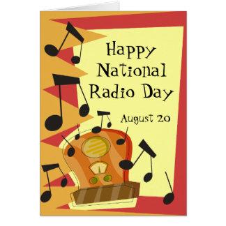 Gelukkige Nationale RadioDag, 20 Augustus Briefkaarten 0