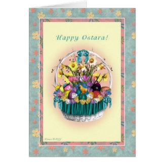 Gelukkige Ostara - LenteMand Equinox - Ostara Briefkaarten 0
