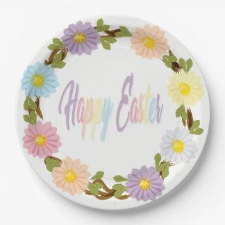 Gelukkige Pasen Daisy Plates Papieren Bordje