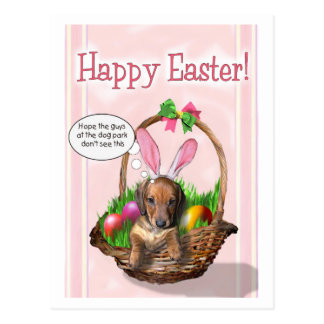 Gelukkige Pasen van een jong Doxie Briefkaart