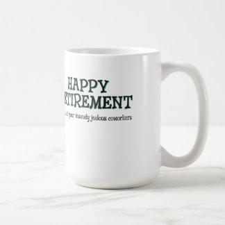 Gelukkige Pensionering van Jaloerse Medewerkers Koffiemok