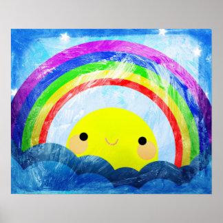 Gelukkige Regenboog Poster