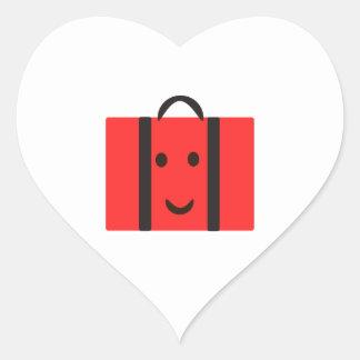 gelukkige Rode koffer Hart Sticker