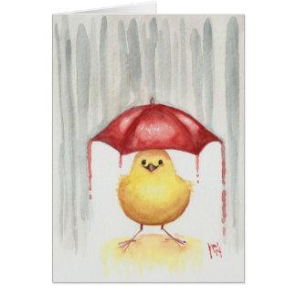 Gelukkige Rode Paraplu Wenskaart