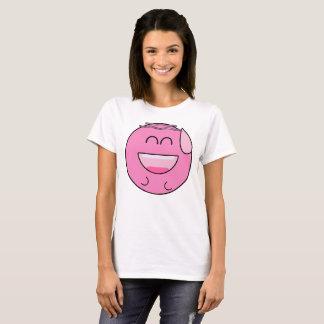 Gelukkige Roze Emoji T Shirt