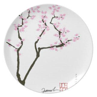 gelukkige sakura en roze goudvis, tony fernandes bord