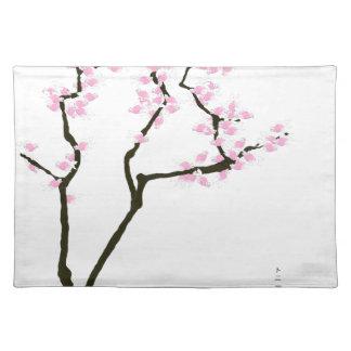 gelukkige sakura en roze goudvis, tony fernandes placemat
