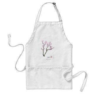 gelukkige sakura en roze goudvis, tony fernandes standaard schort
