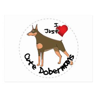 Gelukkige Schattige Grappige & Leuke Hond Doberman Briefkaart