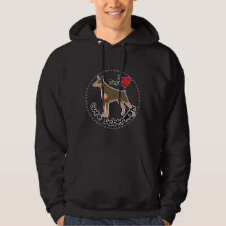 Gelukkige Schattige Grappige & Leuke Hond Doberman Hoodie