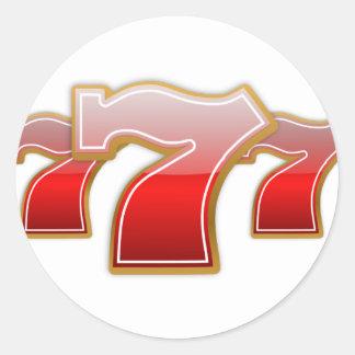 Gelukkige Sevens Ronde Sticker