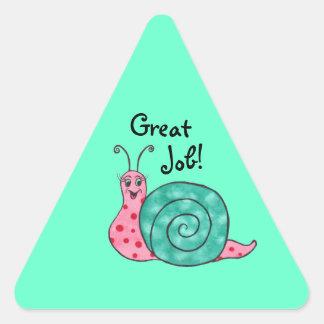 Gelukkige Slak - de Grote Klantgerichte Sticker