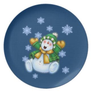 Gelukkige Sneeuwman Bord