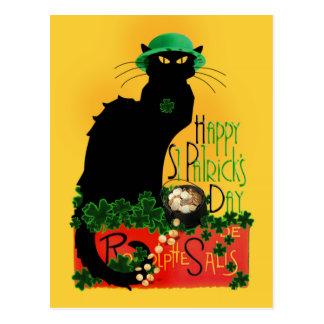 Gelukkige St Patrick Dag - Le Chat Noir Briefkaart
