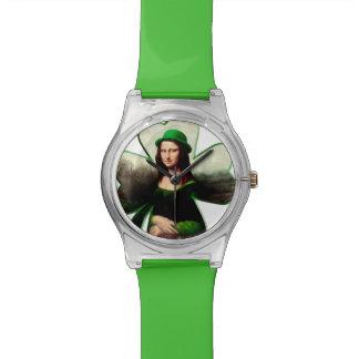 Gelukkige St Patrick Dag Mona Lisa Polshorloge