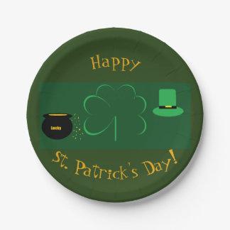 Gelukkige St. Patrick Dag Papieren Bordje