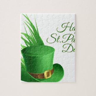 Gelukkige St Patrick dag, vakantie Iers pet Puzzel