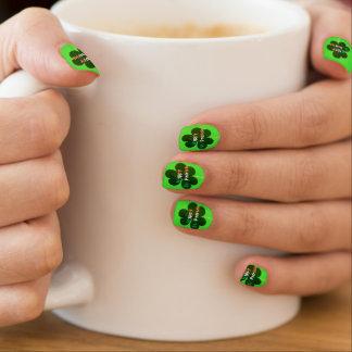 Gelukkige St. Patrick Irish Flag Colors Groen Minx Nail Art