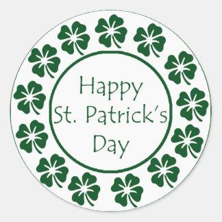 Gelukkige St Patricks Dag Ronde Sticker