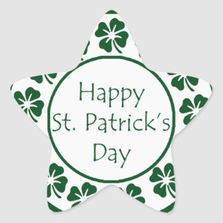 Gelukkige St Patricks Dag Ster Sticker