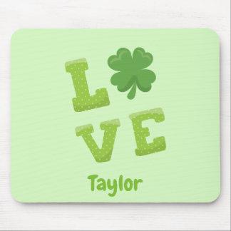 Gelukkige St Patricks van de Liefde Groene Dag Muismatten