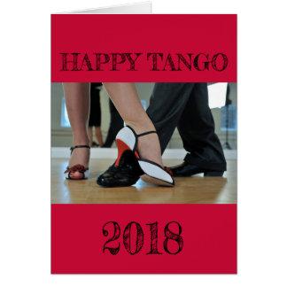 Gelukkige Tango 2018 Kaart