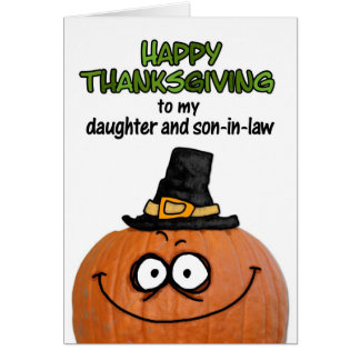 Gelukkige Thanksgiving aan mijn dochter en Briefkaarten 0