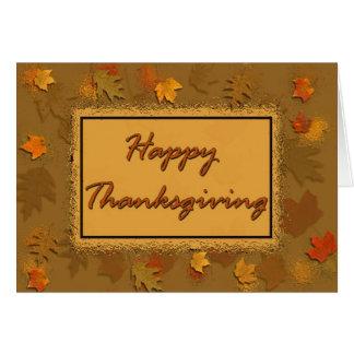 Gelukkige Thanksgiving Briefkaarten 0