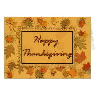 Gelukkige Thanksgiving Kaart