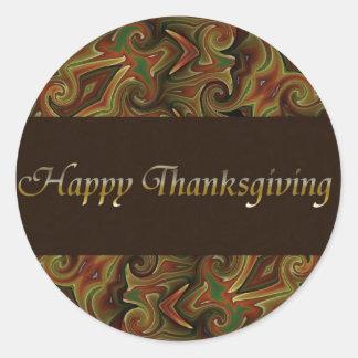 Gelukkige Thanksgiving Ronde Sticker