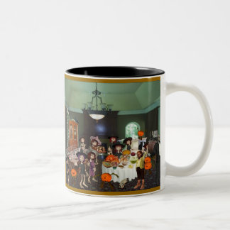 Gelukkige Thanksgiving! Tweekleurige Koffiemok