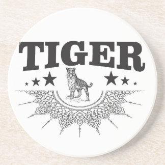 gelukkige tijger zandsteen onderzetter