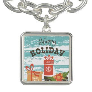 Gelukkige Vakantie Kerstmis Vakantie Cadeaus Armbanden