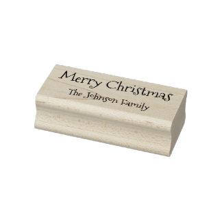 Gelukkige Vakantie van Kerstmis van de Familienaam Rubberenstempel