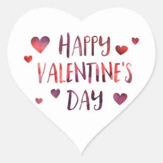 gelukkige Valentijnsdag bokeh Hart Sticker