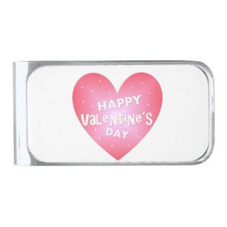 Gelukkige Valentijnsdag Verzilverde Geldclip