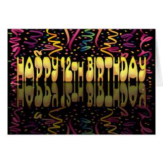 Gelukkige Verjaardag 12 wimpels Briefkaarten 0