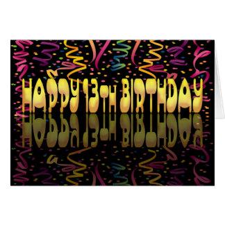Gelukkige Verjaardag 13 wimpels Kaart