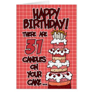 Gelukkige Verjaardag - 31 Jaar Oud Kaart