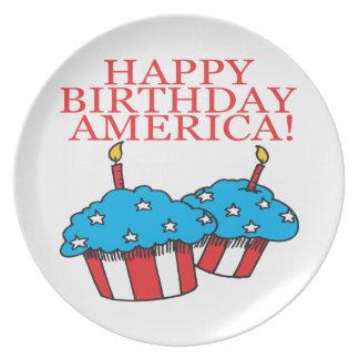 Gelukkige Verjaardag Amerika Melamine+bord