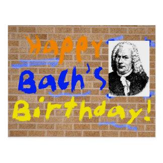 Gelukkige Verjaardag, Bach Briefkaart