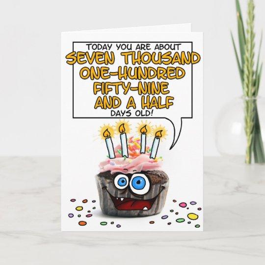 Gelukkige Verjaardag Cupcake 19 Jaar Oud Kaart Zazzle Nl